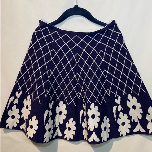 Lapis Other - Lapis Girl Knit Skirt Blue and White size 10/12